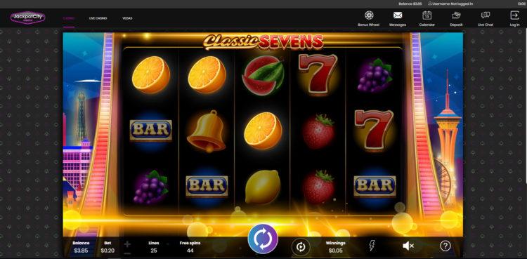 Classic Sevens Slot Machine